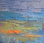 Carol Schiff|Abstract Oil Painting, Daily Painting, Textured Art, Rainy Day in Albany 10x10x3 Contemporary Art