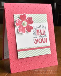 Stampin' Up! Birthday Card by Beth M at Card Creations by Beth: Flower Shop