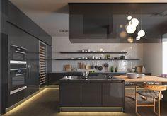 Cucina nera di design 29