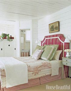A country-style bedroom with simple elegance