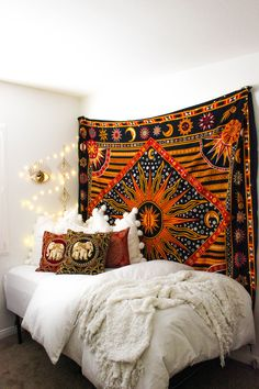 Supernova❤️ Design by @kaitlynjohnsondesign ☽ ✩ Bohemian Boho Bungalow Bedroom || Save 25% off all orders with code PINTERESTXO at checkout | Shop Now LadyScorpio101.com