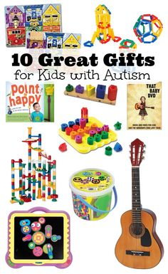 10 Great Gift Ideas for Kids with #Autism, plus crafty gifts, pets and more