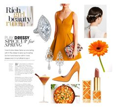 """""""Orange"""" by mutmut-13 on Polyvore featuring Chicnova Fashion, Gucci, Wrapped In Love, Erickson Beamon and Tory Burch"""