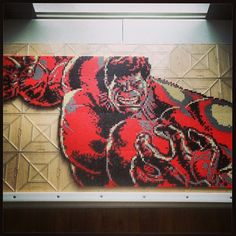 Incredible Hulk - Marvel perler pixel art by dc_4_life