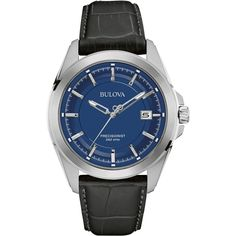 Bulova - Precisionist Quartz Wristwatch - Silver, Men's