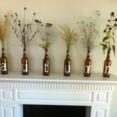Recycled Chimay beer bottles!  <3 SNR
