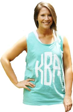 Comfort Colors Monogram Printed Tank by GoneGreek on Etsy, $22.00