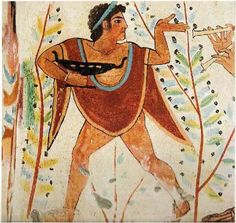 "Мужчина с киликсом. ""Гробница Леопардов"", Тарквинии, ок. 480 г. до н.э."