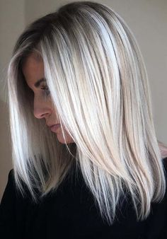 Do you love to wear blonde hair colors? Visit here and see our best collection of ice blonde hair colors with long sleek straight haircuts for 2018. It is one of the coolest hair colors to wear in these days. Moreover, best for ladies which are looking for best styles of hair colors for summer and spring seasons.