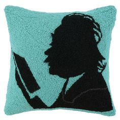 :)!! There is blue in your other two art pieces :).  Einstein Pillow 16x16, $32, now featured on Fab.