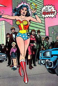 Wonder Woman quits.  Wonder Woman issue# 269 (1980)