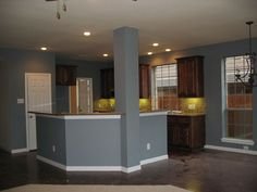 Grey Blue Kitchen Paint Colourn Love This