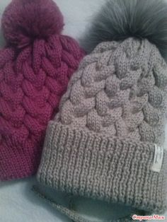 Мобильный LiveInternet Тёплые шапочки с косами. Онлайн-вязание | Аннушка1707 - Дневник Аннушка1707 |