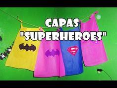 """Como hacer capas y dulceros de """"Superheroes"""" Moldes combo #2 - YouTube"""