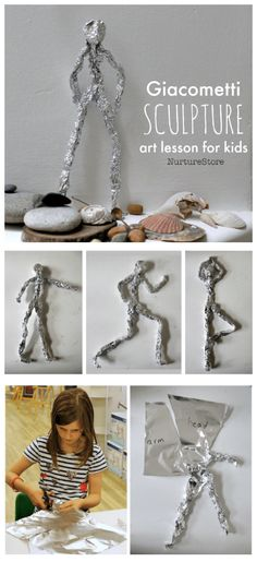 Giacometti art lesson :: sculpture project for kids - NurtureStore...