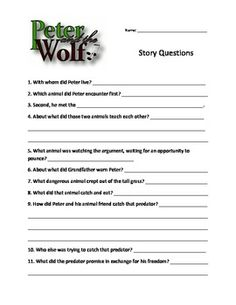 Peter and the Wolf story questions only