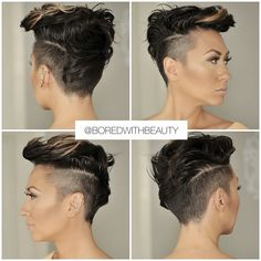 The mohawk in women more popular: This is how the hairstyle looks! Edgy Short Hair, Short Hair Cuts, Short Hair Styles, Natural Hair Styles, Undercut Hairstyles, Funky Hairstyles, Sassy Hair, Hair Tattoos, Shaved Hair