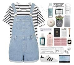 """""""✧You'll be mine"""" by annakathryne ❤ liked on Polyvore featuring Topshop, R+Co, adidas Originals, philosophy, Christy, Royce Leather, Muji, Christian Dior, The Body Shop and Herbivore"""