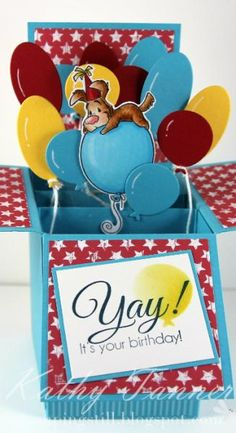 Pepper on Balloon by mum of 2+2 - Cards and Paper Crafts at Splitcoaststampers