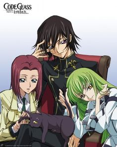 Poster Code Geass Lelouch, C.C. and Kallen