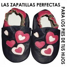 Zapatillas Piel Suela Blanda Mod. Corazones Bebes 12-18 Y 18-24 Meses -  Bekiro 32eb90a458b2f
