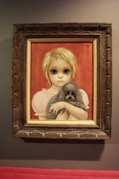 Margaret Keane - Big eyed girl with dog