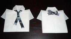 Pliage en papier réaliser une chemise ou chemisette ,pliage de serviette de table en papier en forme de chemise ou chemisette, decoration de table, recettes de cuisine et traditions en Europe. Information et Tourisme Européen.
