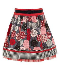 Take a look at this Grey Rose Skirt by Yumi on #zulily today!