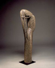 Jean LAMBERT-RUCKI, Marie-Madeleine, 101,5 x 32 x 19 cm, c.1940, bronze  Une émotion commune avec la Marie-Medeleine de Donatello ...