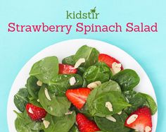 After your family has tried this colorful, iron-rich salad once, you'll crave it again and again. It's yummy and healthy! Serve it with the Honey Poppy Seed Dressing. Easy Meals For Kids, Dinner Recipes For Kids, Kids Meals, Kid Recipes, Cooking With Kids, Cooking Ideas, Cooking Recipes, Spinach Salad Recipes, Spinach Strawberry Salad