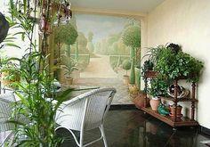 Plants and garden mural