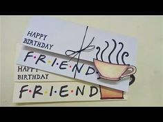 Friends tv show card , birthday card for friend