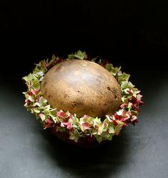 Fading hydrangea circlet. Autumnal flower crown.