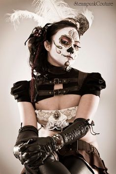 2 of my favs, Steampunk and Day of the Dead