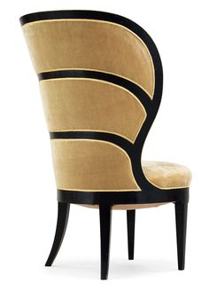 UNO ÅHRÉN, Lady´s Armchair, Swedish Grace-period, c.1928. Material lacquered wood and velvet plush. Manufactured by Mobilia, Sweden. / Artnet
