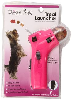 Unique Petz Pet Treat Launcher, Fuchsia -- Find out more about the great product at the image link. (This is an affiliate link and I receive a commission for the sales) Christmas Presents For Cats, Pet Dogs, Dog Cat, Chihuahua Dogs, Puppies, Dog Gadgets, Hamster, Dog Rooms, Pet Treats