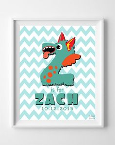 Initial 'Z' Personalized Print