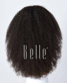 full lace wig  #Afrocurl #wigsforblackwomen www.bellewigs.com/best-brazilian-full-lace-wigs-q-4.html