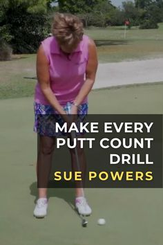 Top 50 LPGA Best Teacher Sue Powers, shares her putting practice drill to lower your scores and give you more confidence on the greens. #golf #golftip #golfswing #golflessons #womensgolf Golf Books, Golf Score, Golf Putting Tips, Golf Chipping, Best Golf Courses, Golf Instruction, Golf Exercises, Golf Training