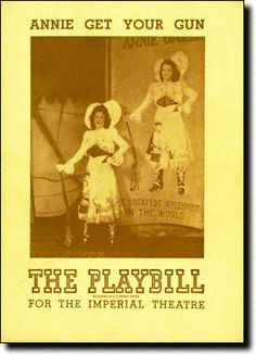 May 16, 1946: ANNIE GET YOUR GUN, starring Ethel Merman, premieres on Broadway at the Imperial Theatre
