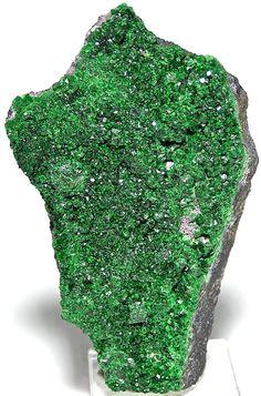Uvarovite Green Druzy Garnet Crystals Cutting by FenderMinerals,