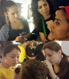 #Maquillaje de tarde en el curso profesional de maquillaje de 10 meses.