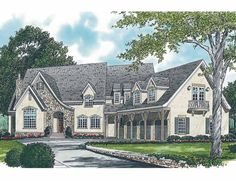 Eplans French Country House Plan - Cottage Outside, Manor In - 8599 Square Feet and 6 Bedrooms(s) from Eplans - House Plan Code HWEPL04037