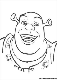 Shrek coloring picture