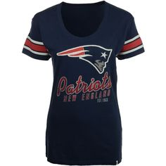 '47 Brand Women's New England Patriots Off-Campus T-Shirt ($18) ❤ liked on Polyvore