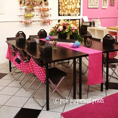 Girl Parties: Fashion Camp Birthday Party - Pink Peppermint Design