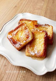 ★★★殿堂入りレシピ★★★つくれぽ3700件 食パンを卵液に浸して焼くだけ♪ ふわふわ美味しい*