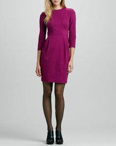 Rabat Pleated Ponte Dress by Nanette Lepore at Neiman Marcus.