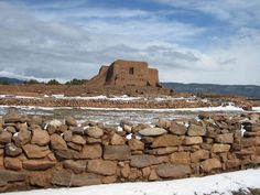 Ruined mission, Pecos National Monument Park, Santa Fe, NM