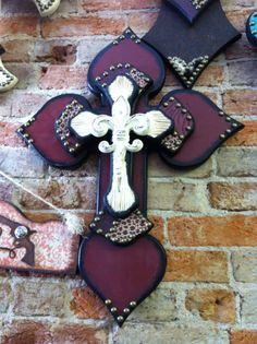 Medium Maroon Cross by StylinWithHeart on Etsy, $65.00